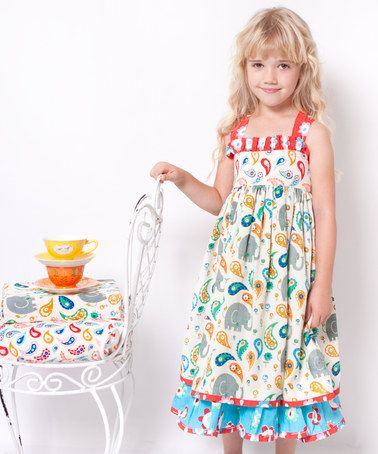 Take a look at this White & Teal Elle Sassy Dress - Infant, Toddler & Girls by Jelly the Pug on #zulily today!