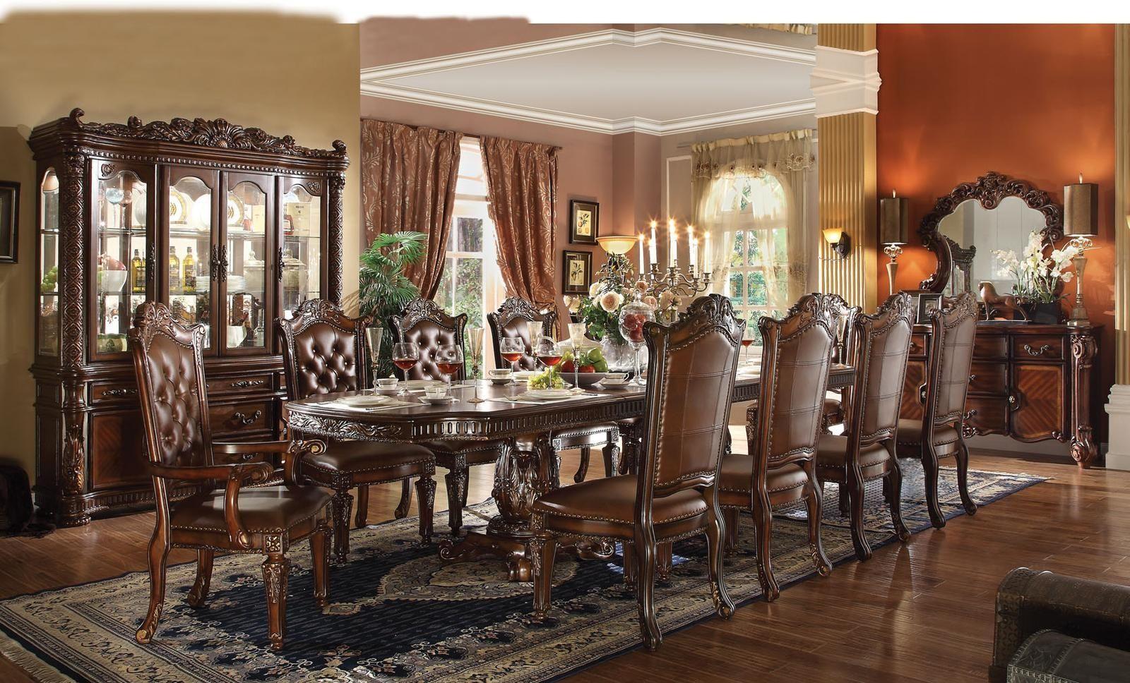 Acme vendome 11pc double pedestal dining room set in cherry dining acme vendome 11pc double pedestal dining room set in cherry dzzzfo