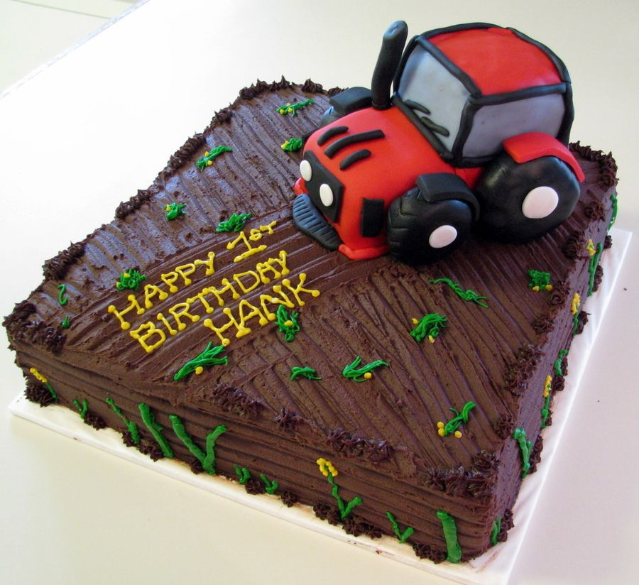 Amazing Tractor Birthday Cake With Images Tractor Birthday Cakes Funny Birthday Cards Online Fluifree Goldxyz