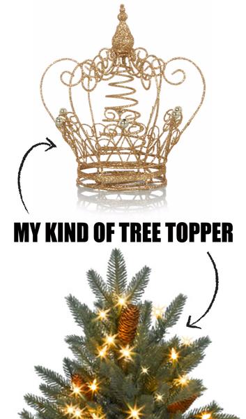 Glitter Crown Christmas Tree Topper £7 Asda