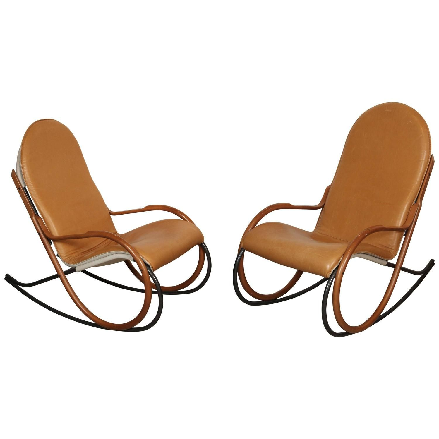 Unique Lounge Chairs pair of paul tuttle rocking chairs | from a unique collection of