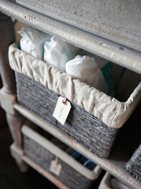 diaper changing station baskets