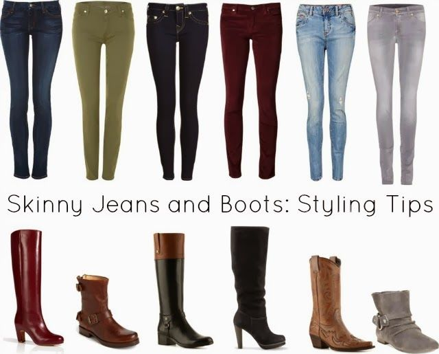 Can you give me some guidance about which boots to wear with which jeans? There are skinny jeans, straight-leg jeans, mini-boot cuts, boot-cuts, boyfriend jeans, cropped jeans, jeans that people cuff #skinnyjeansandankleboots