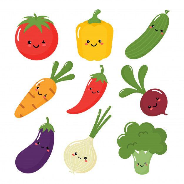 Set Of Cute Vegetable In Kawaii Style Kawaii Kawaii Illustration Kawaii Fashion