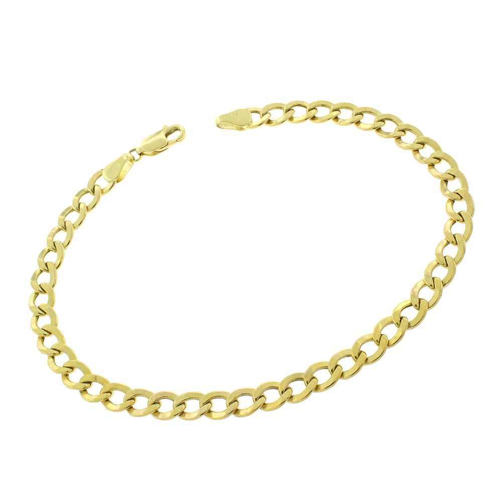 Mcs Jewelry 10 Karat Yellow Gold Curb Link Chain Bracelet 8 25 4 2 Mm Affiliate Mcs Jewelry Bracelets Gold Yellow Bracelet Link Bracelets