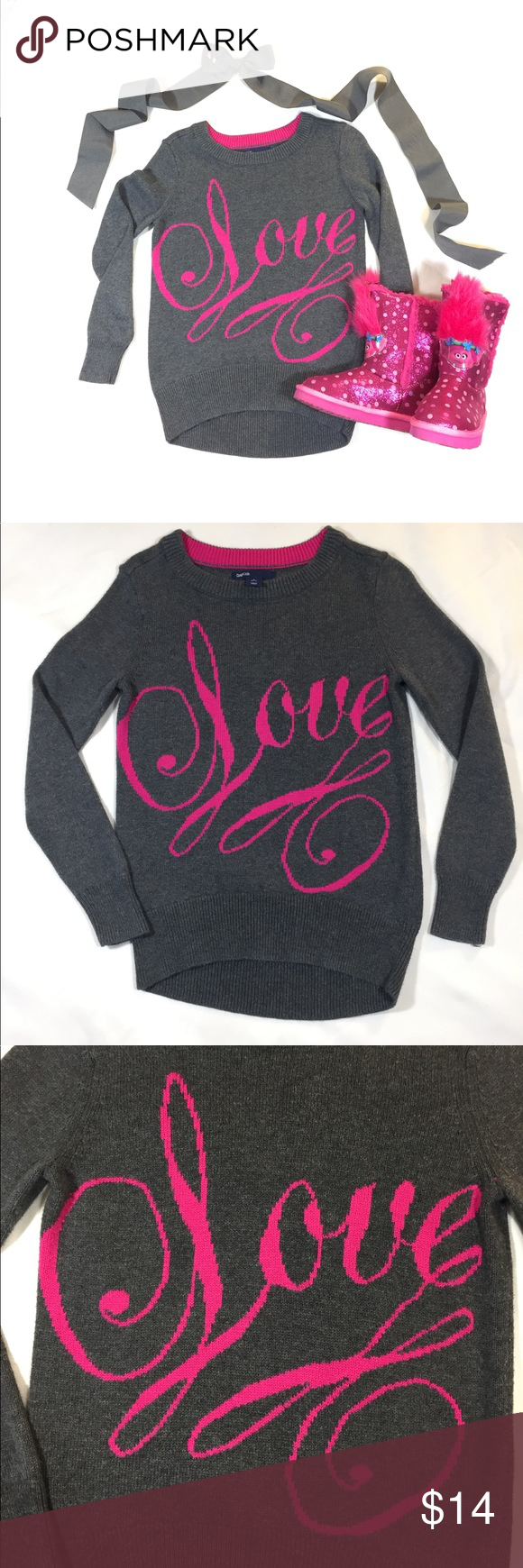 SOLD~ Gap Kids Love Sweater Size S (6-7) | Gap kids