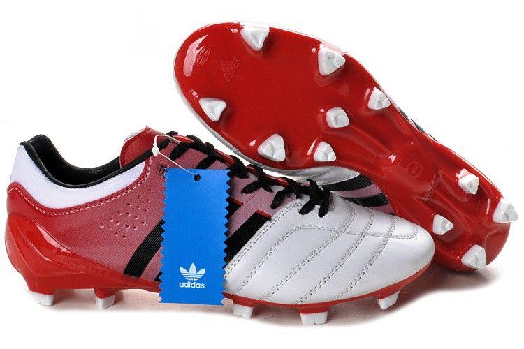 Adidas adipure 11pro trx fg soccer cleats white red black