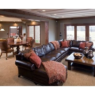 A Large Sectional Is Great Choice For Rec Room Or Bat
