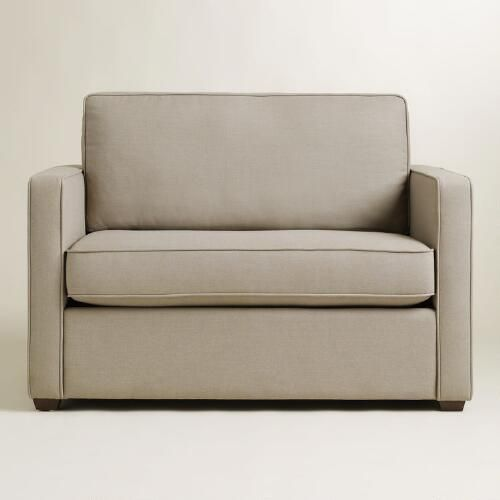 Best Pebble Gray Chad Chair And A Half Twin Sleeper World 400 x 300