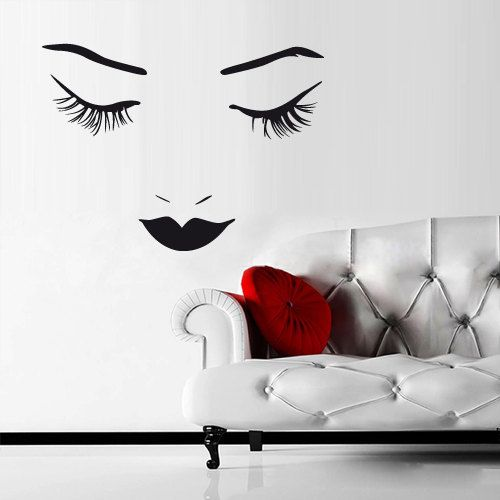 Wall Art Stickers Eyes : Wall vinyl sticker decals decor girls face eye by