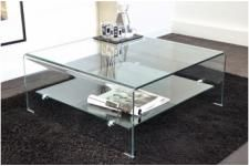 Verre Otta Table En Transparent Basse Design Carrée JcTlFK31