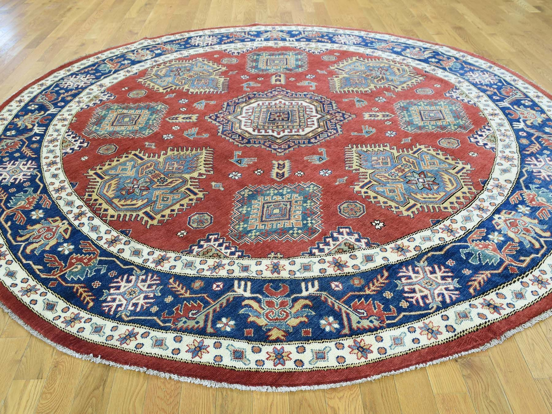8 9 X9 Special Kazak Hand Knotted Pure Wool Geometric Design