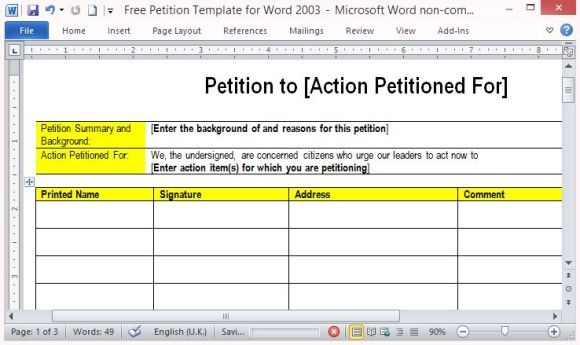 Encourage People To Sign Up For Your Cause | Petition Letter
