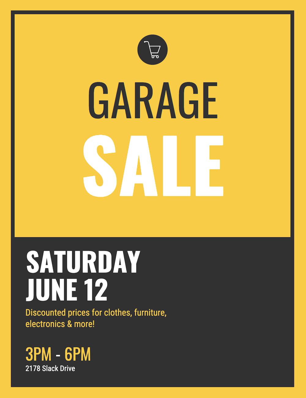 Garage Sale Event Poster Template Idea Event Poster Event Poster Template Garage Sales