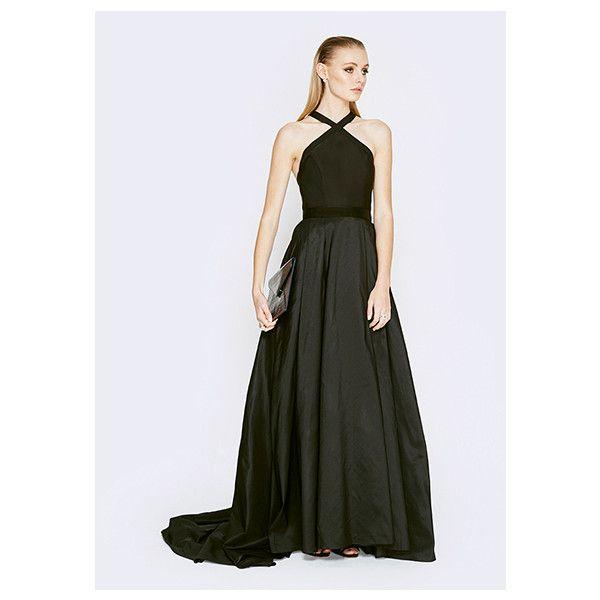 Black halter top prom dress