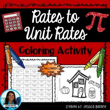 Rates To Unit Rates Activity Halloween Theme Coloring The Unit