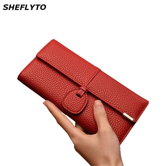 6e1ae53deb3d Clutch Bags Red Wallets Women Leather Phone Wallets Female Brand ...