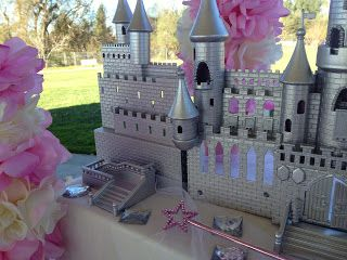 silver castle centerpiece find an old toy castle and spray paint it