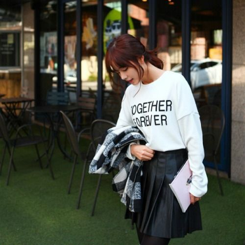 Tag the person/people you wanna be #TogetherForever with. However, our Korean Sale Samsung Galaxy #Note4 Giveaway Contest is not forever… it is ending in 2 hours! Scroll down for the contest post to join NOW! CHERRYKOKO Dip-Back Lettering #TShirt http://www.yesstyle.com/en/cherrykoko-dip-back-lettering-t-shirt-ivory-one-size/info.html/pid.1037371947 #KoreanFashion #AsianFashion