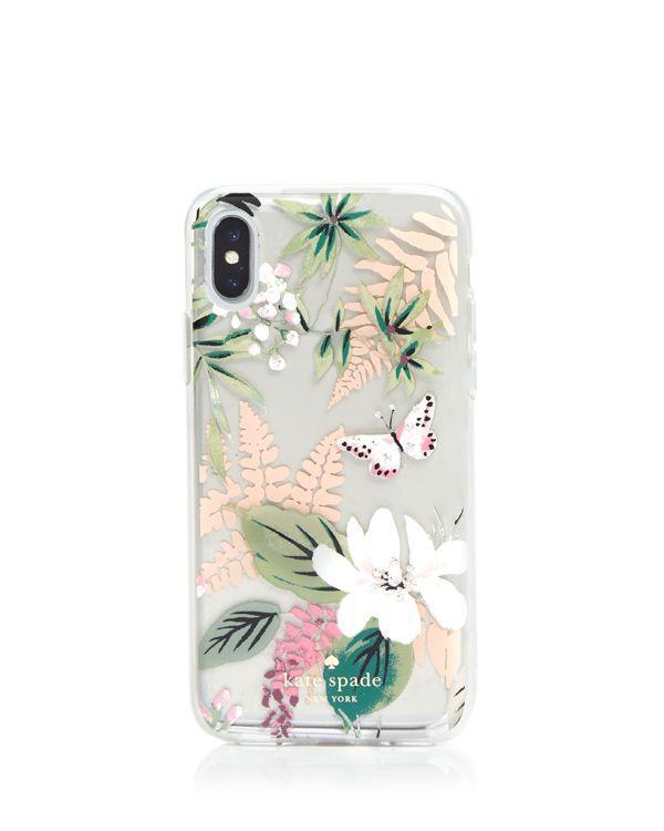 timeless design 89a54 b08ee kate spade new york Jeweled Botanical Clear iPhone X Case | I Phone ...
