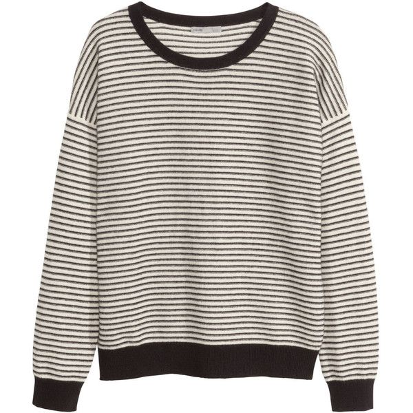 H&M Cashmere jumper (1.860 UYU) ❤ liked on Polyvore featuring tops, sweaters, shirts, jumpers, h&m jumpers, long sleeve shirts, shirt sweater, cashmere shirt and h&m shirts
