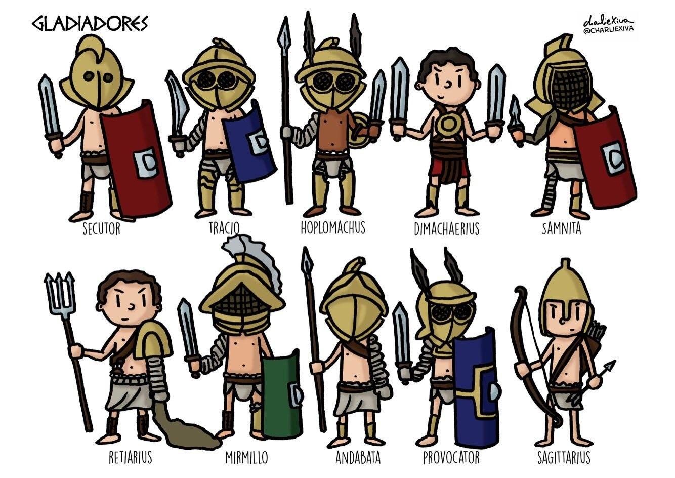 Gladiatores Roma Antigua Roma Para Ninos Edad Antigua