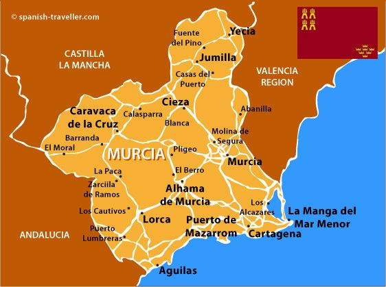 Map of Murcia Sbaeneg Pinterest Murcia Spain and Cartagena