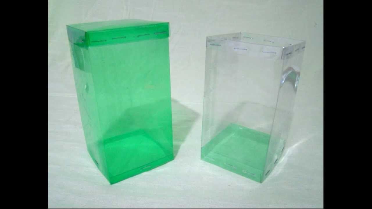 Caja cuadrada hecha con botellas de PET - vídeo completo - Trabajos manu...
