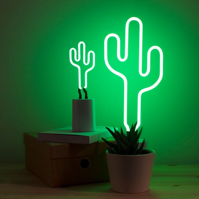 Graphic Collection Marries Everything That Is Non Conventional And Innovative And It Truly Represents The Soul Of The M Neon Cactus Neon Lighting Cactus Light