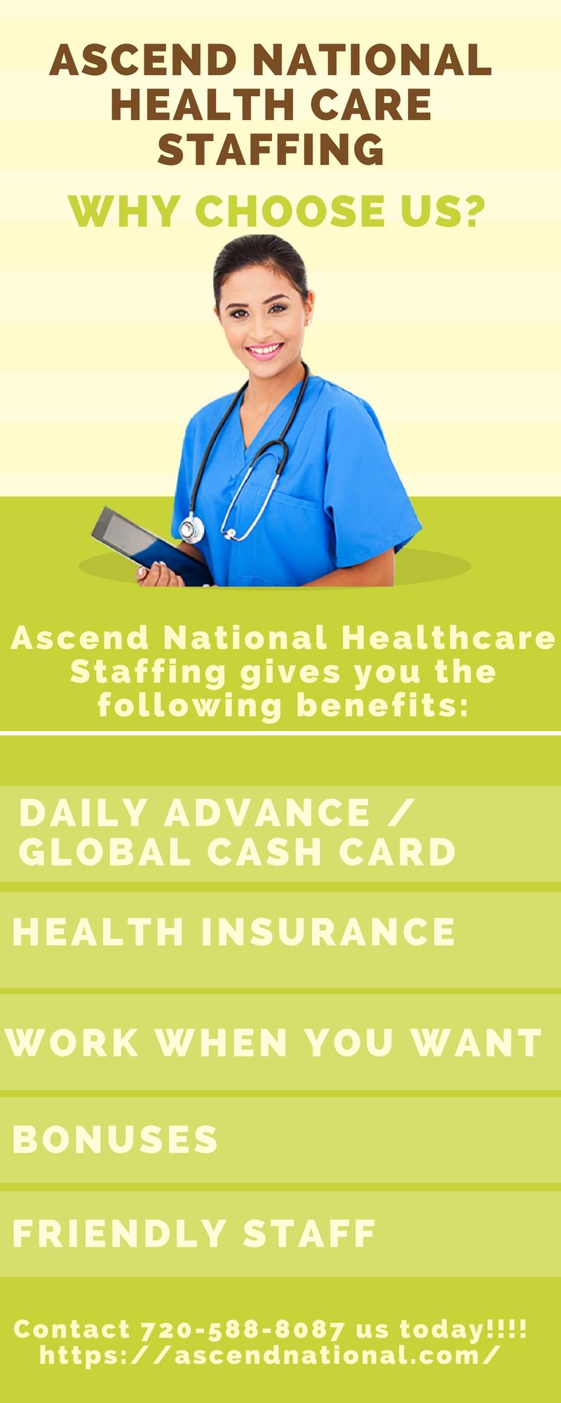 Ascend National Healthcare Staffing gives you the