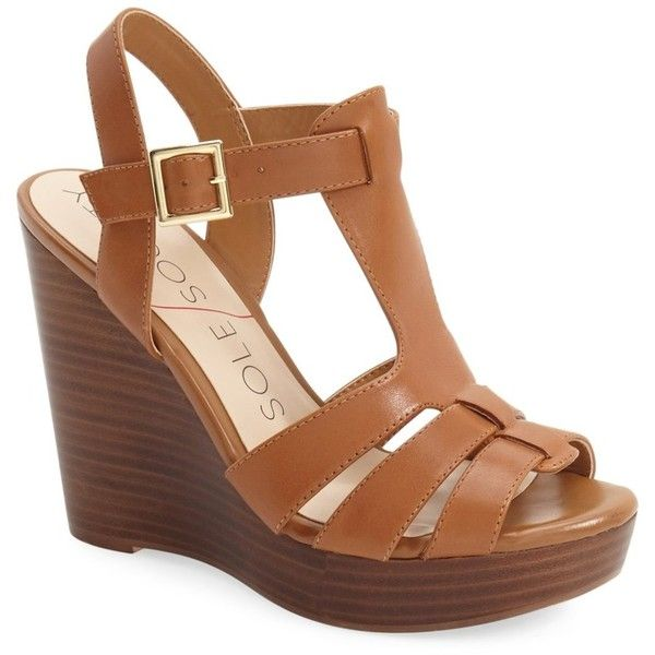 b6bacd3d17f9 Sole Society  Chaya  Platform Wedge Sandal (Women) ( 30) ❤ liked on  Polyvore featuring shoes