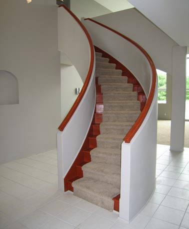Contemporary Curved Staircase Design | Residential Staircase By The Stair  Builders At Stair.com
