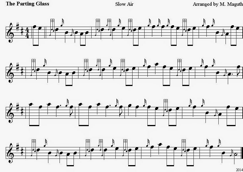 Here is a practice chanter recording of it! Description from
