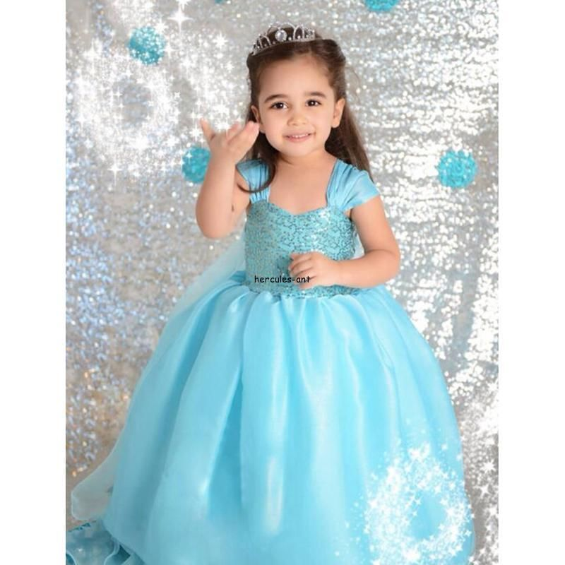 a5788a13 US $19.9 |Aliexpress.com : Buy Girls Cartoon Snow Pattern Princess Dress  Toddler Ball Gown Dresses Kids Sundress Baby Clothing Children Cosplay  Party ...