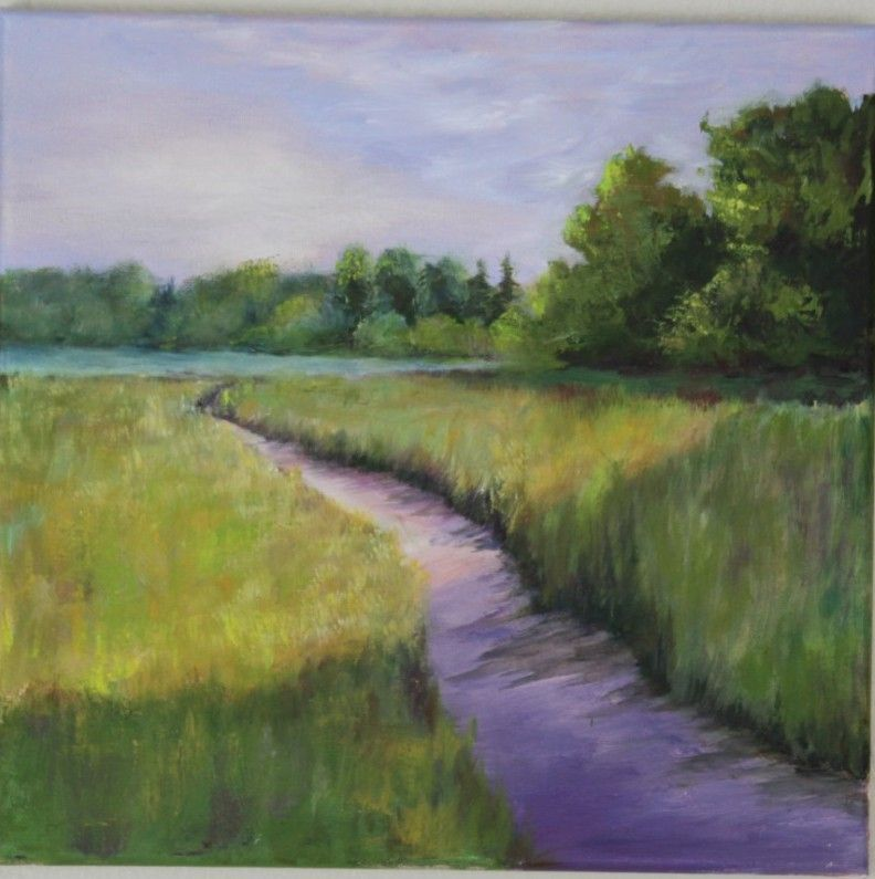 how to paint textured grass acrylic - Google Search