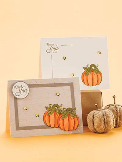 Autumn Cards to Make Find 66 of the best harvest-season make-it-yourself greeting cards in the autumn issue of  CardMaker!  You will have a beautiful card for virtually any autumn event with the variety of designs in these pages. (aff link)