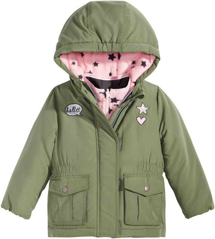 d0306ffc105d Osh Kosh Hooded Parka With Patches