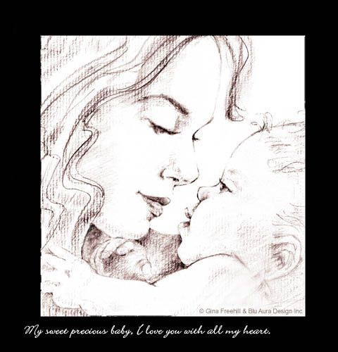 Drawings of mothers and babies gina freehill com official website of gina freehill