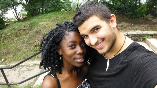 Out for a walk | interracial couple | love