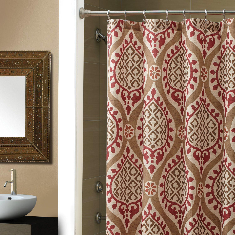 Modern Marrakesh Shower Curtain Red shower curtains