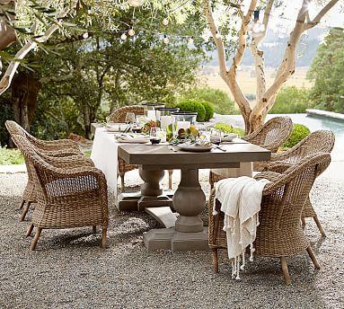 Scarlett Concrete Rectangular Dining Table Pottery Barn Back - Pottery barn concrete dining table