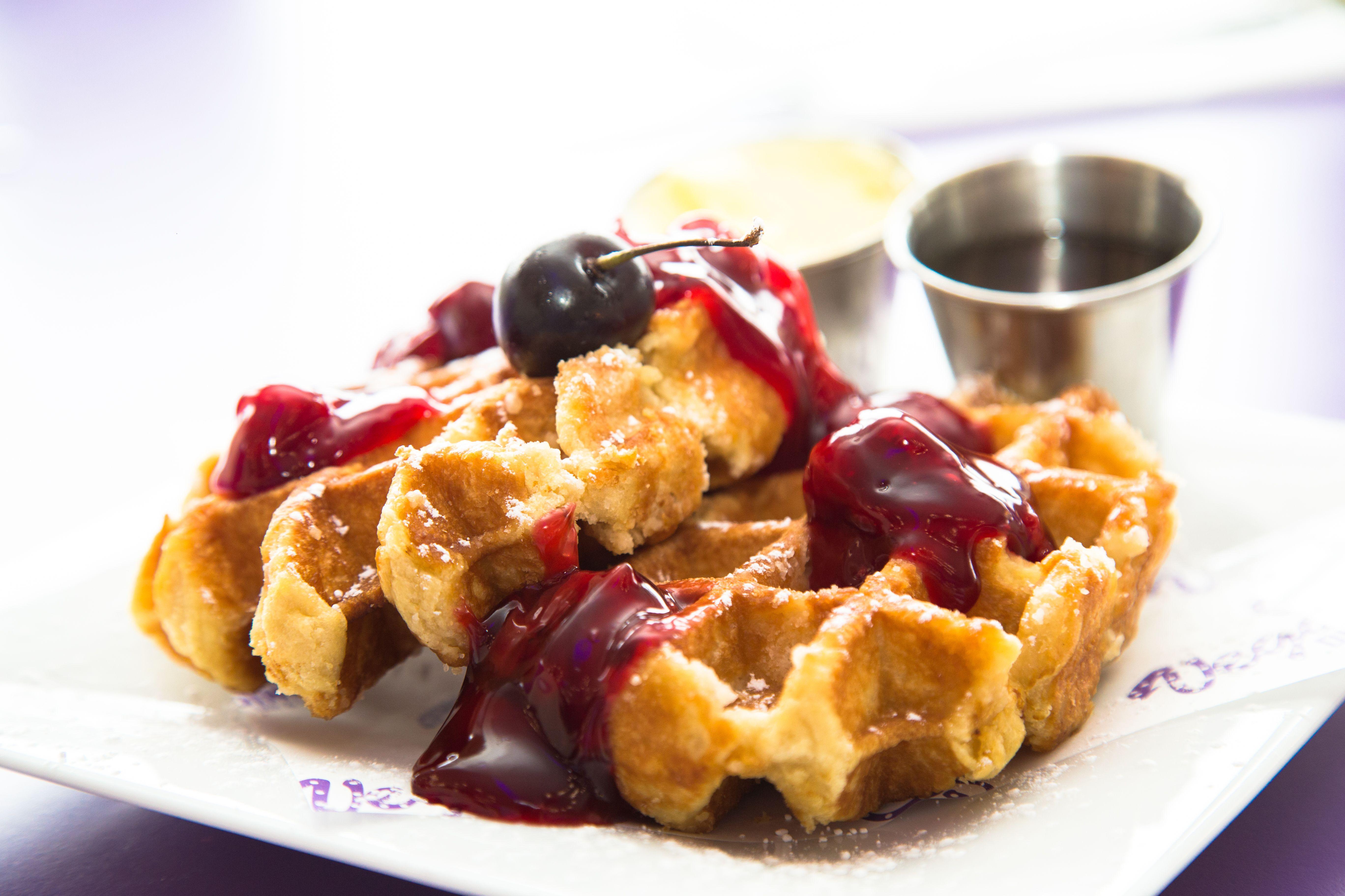 Yummy Waffles Perfect Breakfast Treat waffles yum