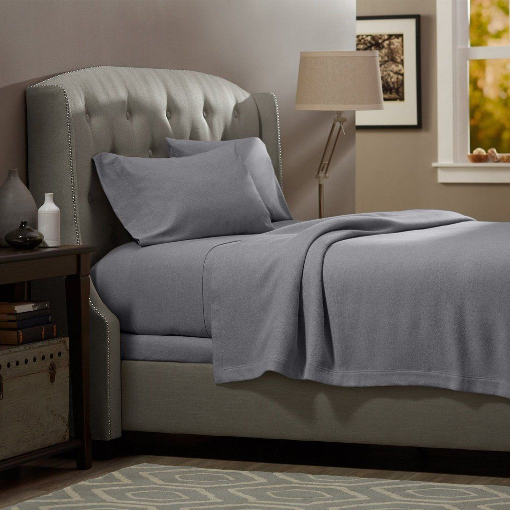 Clara clark 100 cotton flannel deep pocket 4 pc bed sheet