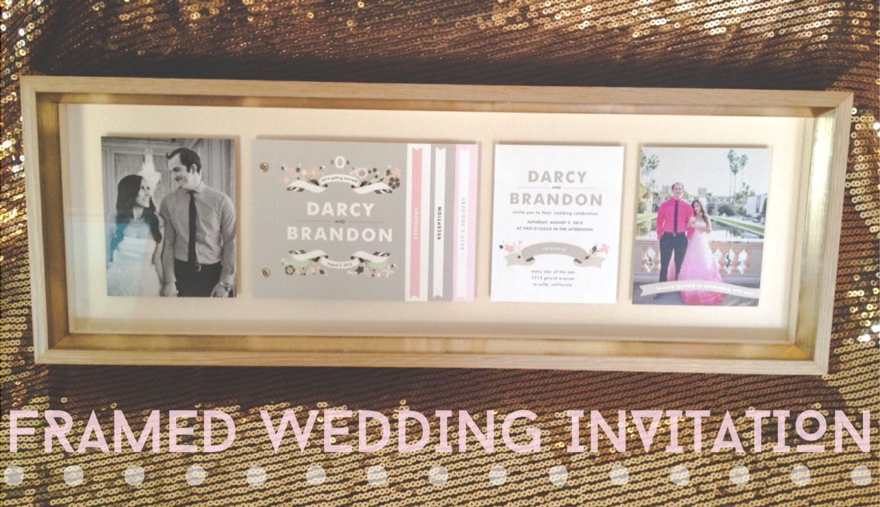 What to do with your Wedding Invitation?  Have it Framed!  Custom Frame & Design compliments of The Frame Maker in Mission Hills, CA. #keepsake #wedding