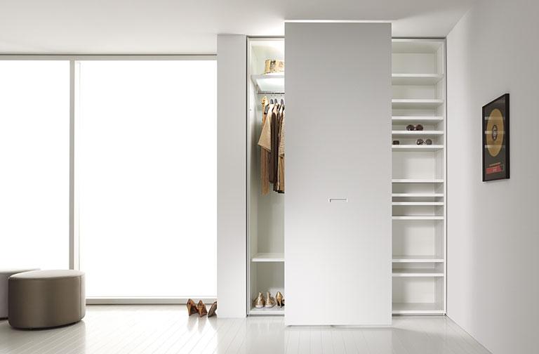 Sehr Gut Begehbare Kleiderschränke für Ecken und Nischen: Variable Tür  RW24