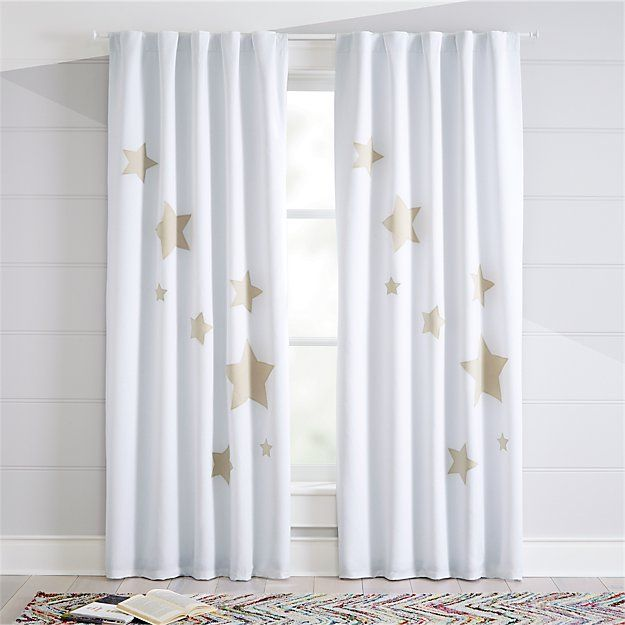Star 96 Blackout Curtain The Land Of Nod Kids Curtains Cool Curtains Blackout Curtains Bedroom