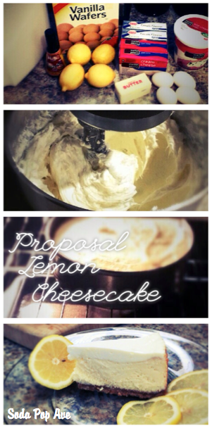 This lemon cheesecake recipe is simply my favorite. And not just because I get a marriage proposal every time ;) Click to get the recipe for the best lemon cheesecake recipe. www.sodapopave.com