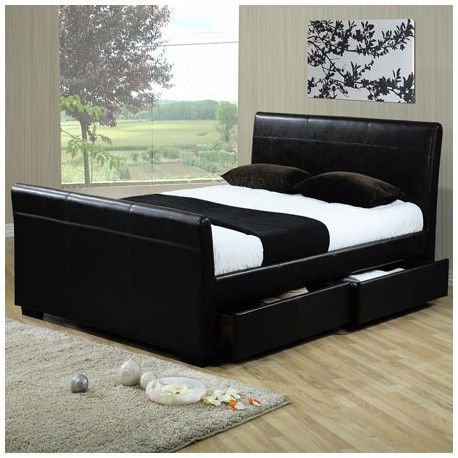 This 5ft King Size Black Faux Leather Storage Bed Frame Is A That Will Add Sophistication To Any Bedroom Made From Beautiful
