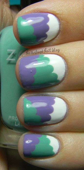 Cloud and Color-Blocking Hybrid Mani Neverland Nail Blog