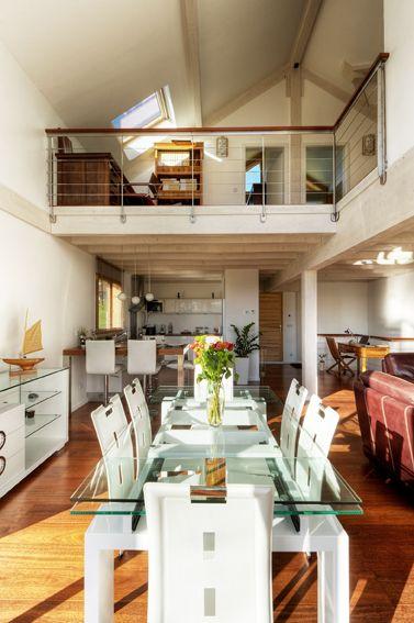 mezzanine ouverte sur s jour d coration maison pinterest. Black Bedroom Furniture Sets. Home Design Ideas